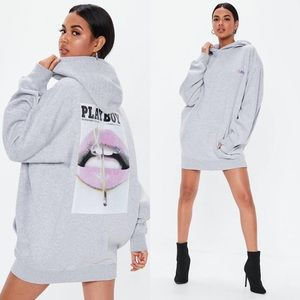 MISSGUIDED X Playboy Hoodie Dress
